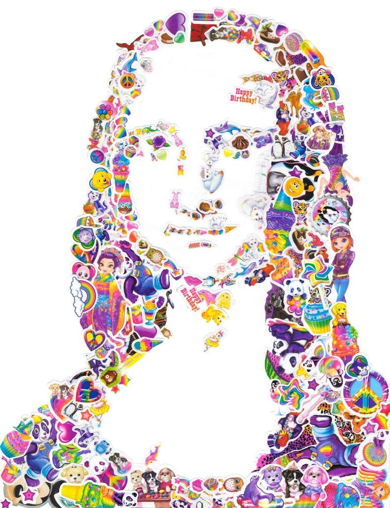 615cd14dd8e92e Mona Lisa Frank handmade colorful rainbow art collage y2k lisa