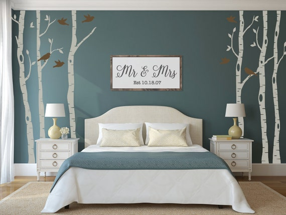 Gorgeous Birch Tree Decals for Bedroom Decor by HorseFeathersDecals