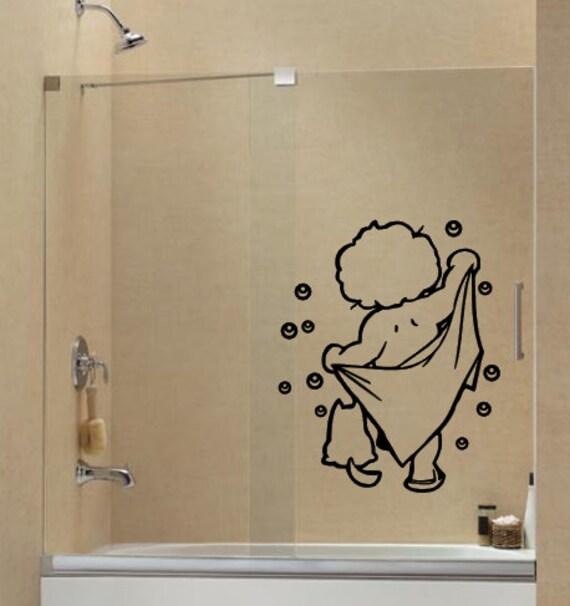 Splish Splash Taking a bath Vinyl Bathroom wall Decal Shower | Etsy