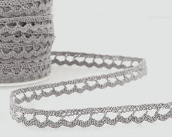 Flat Braid Trim Grey per metre