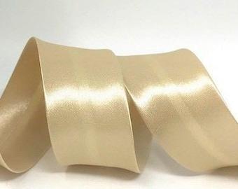 30mm Wide Satin Bias Binding Gold Per Metre