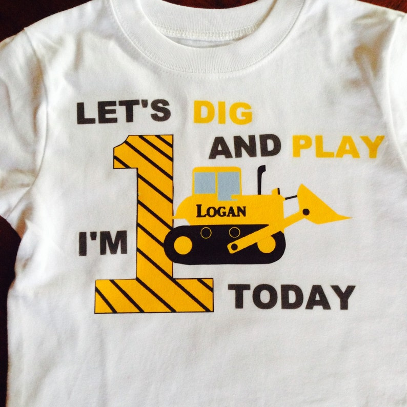 Construction Birthday Shirt First