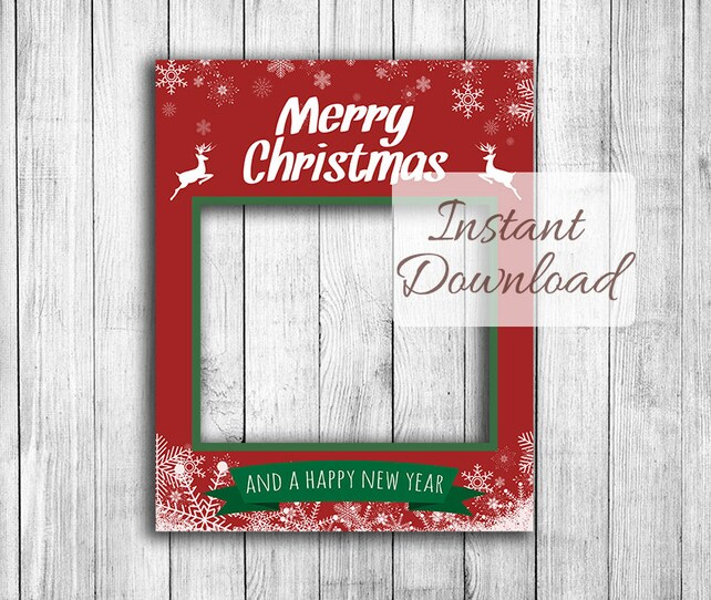 Christmas photo booth frame Instant Download giant   Etsy
