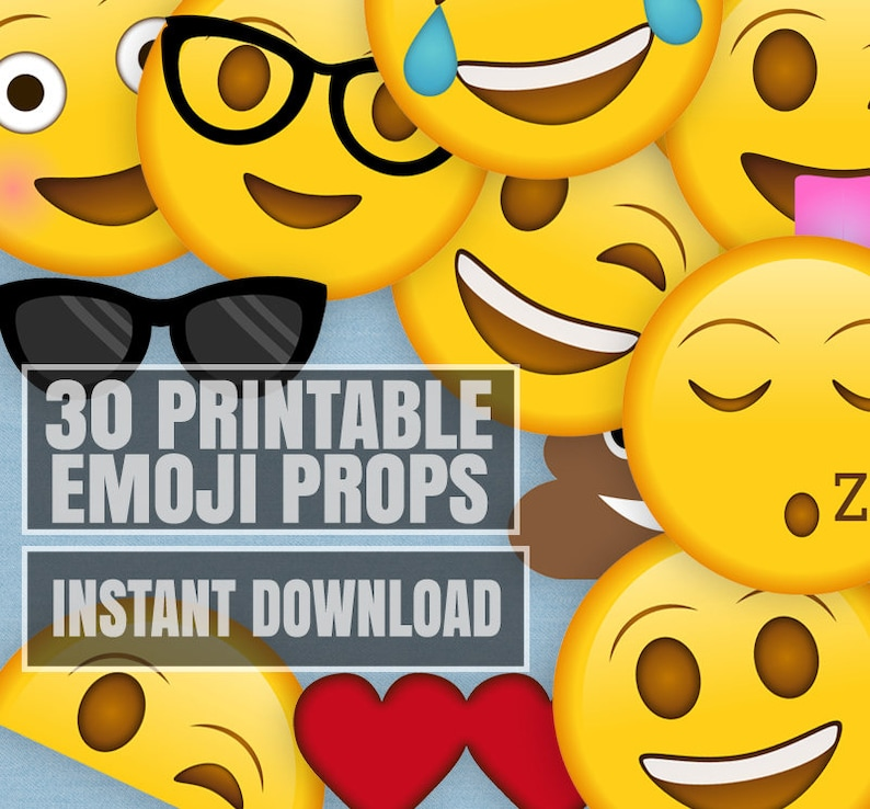 image about Printable Emoji Photo Booth Props called 30 Emoji Printable Props, Printable emoji social gathering prop printables, emoji layout photobooth props, yellow mobile phone photographs image booth prop