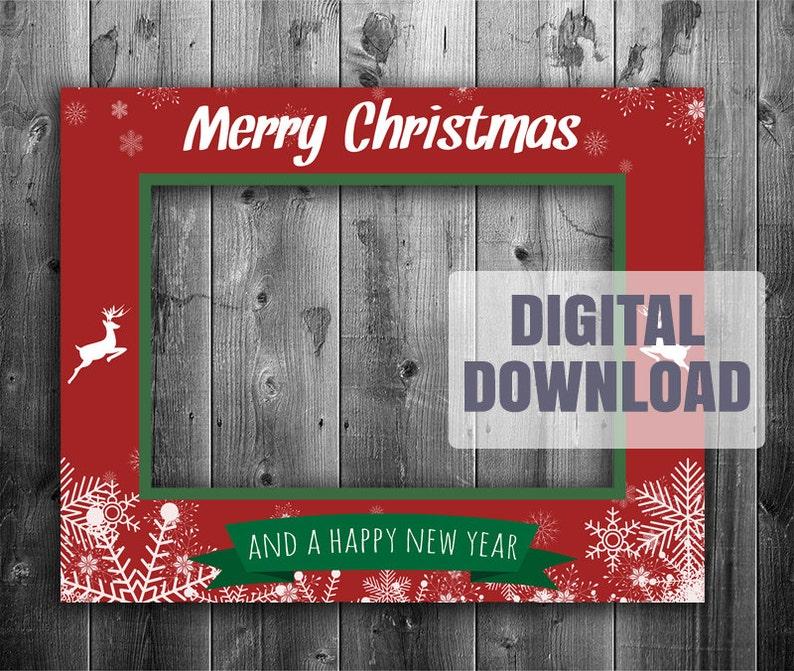 Fotorahmen Weihnachten.Druckbare Weihnachten Stand Fotorahmen Digital Download Riesige Xmas Prop Selfie Urlaub Photobooth Diy Ausdrucke Saisonale Urlaub Rahmen