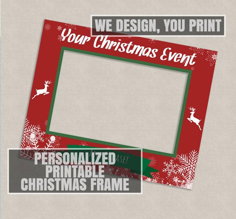 Printable Customised Christmas photo booth frame Digital | Etsy