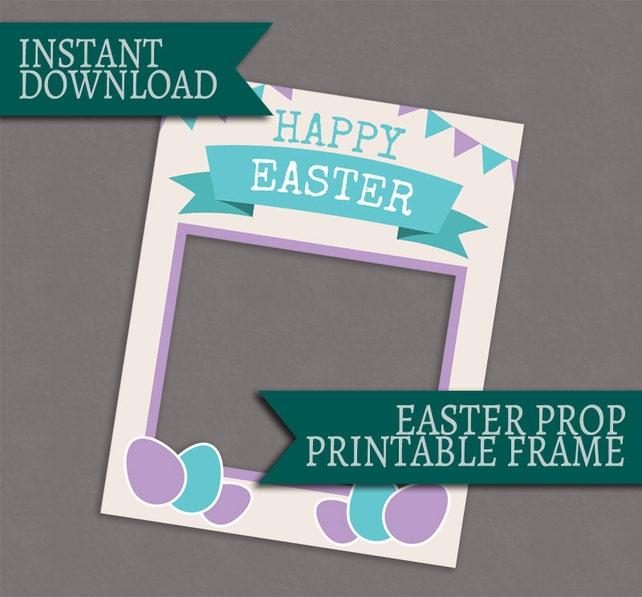 Marco de cabina de la foto de Pascua imprimible photobooth | Etsy