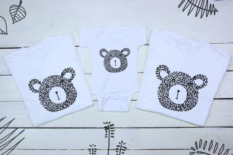 Mama papa baby matching family family set bears family set bear matching set papa bear baby matching sets mama bear tee baby shower gift pre