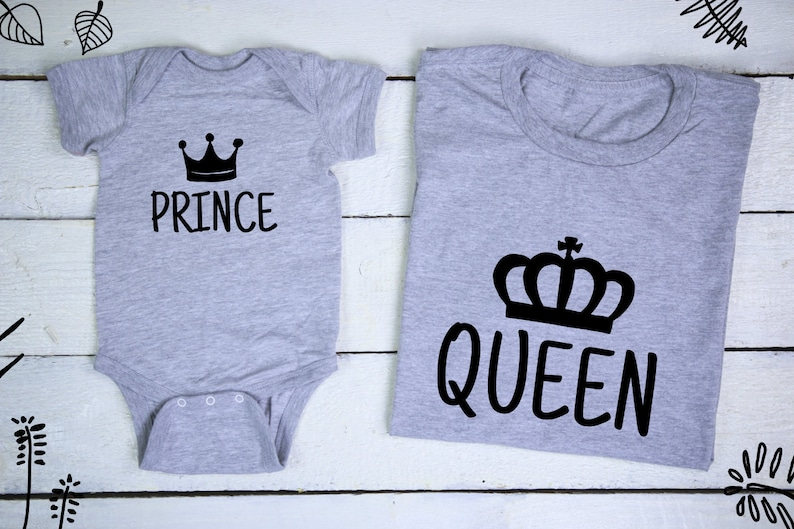 dc98ef7b69d66 Queen Prince Royal Family Mommy and Me Mom Son Matching Shirts | Etsy