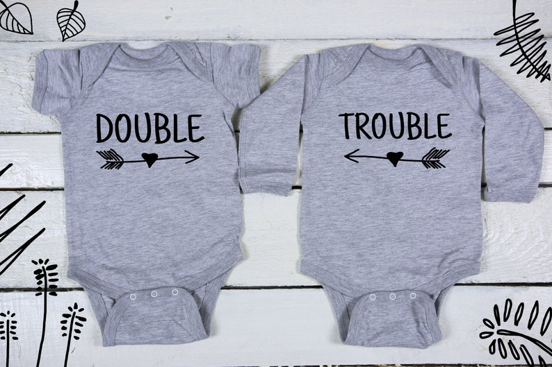 fc1efee84 Double Trouble twins Baby shower twins Twins Set Sibling