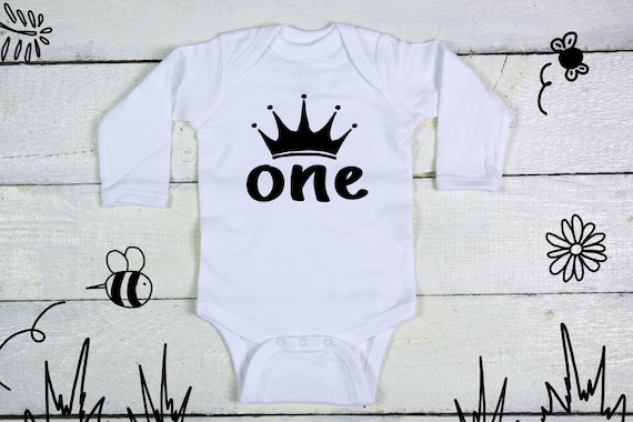 PRINCESS UNICORN CROWN PERSONALISED BABY GROW VEST CUSTOM FUNNY GIFT CUTE