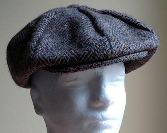 b7bf81f1 L.L. Bean Hanna Hats Donegal Town Ireland panel newsboy cap hat wool tweed  XL
