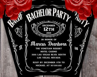 Bachelor Party Invitation Etsy
