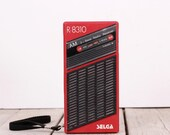 Selga R-8310, Soviet radio receiver, Vintage portable radio, USSR pocket radio, Portable radio receiver, Transistor radio, Old electronics