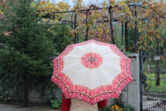 Vintage 1940s Pied Umbrella