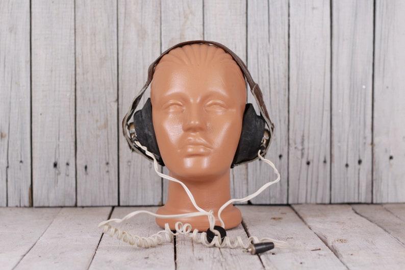 Military headphones - Army radio headphones - Vintage military headphones -  Soviet Army production - Telegraph headphones Morse code headset