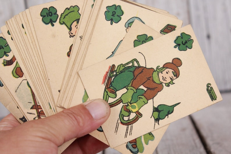 Chimney Sweep Playing Cards Black Peter Cards 1950s Set Of Etsy