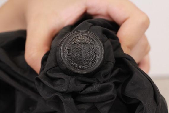Luxury umbrella, Vintage black umbrella, Erdo umb… - image 9