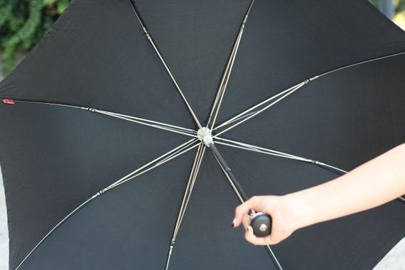 Luxury umbrella, Vintage black umbrella, Erdo umb… - image 6