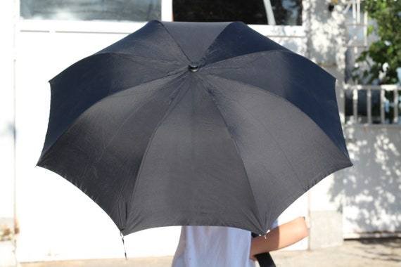 Luxury umbrella, Vintage black umbrella, Erdo umb… - image 3