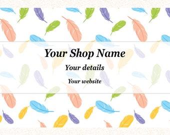 Premade Business Card - Vistaprint Business Card - Printable Calling Card - Random2