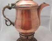 Amazing Antique Copper Metal Arabic Middle Eastern Dallah Teapot Coffee Pot Tea Pot Water Warmer