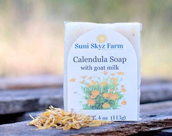Calendula Soap with Goat Milk - Calendula Soap - Goat Milk Soap - All Natural Soap - Aloe Calendula Soap - Handmade Calendula Soap