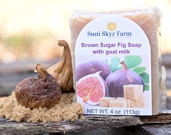 Brown Sugar Fig Soap - Brown Sugar Fig Goat Milk Soap - Brown Sugar Soap - Fig Soap - Handmade Brown Sugar and Fig Goat Milk Soap