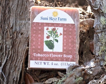 Tobacco Flower Soap - Vegan Tobacco Flower Soap - Flower Soap - Handmade Tobacco Flower Soap - Vegan Calendula Soap - Calendula Soap
