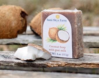 Coconut Goat Milk Soap - Coconut Soap - Goat Milk Soap - Handmade Coconut Soap - Natural Coconut Soap - Handcrafted Coconut  Soap