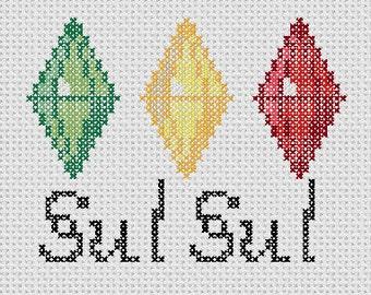 Sims Sul Sul Plumbob Cross Stitch Pattern