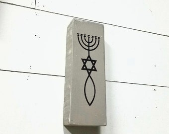 bfa9fdd409736 Messianic Symbol / Shelf Sitter