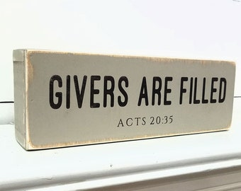 Givers are Filled / Shelf Sitter