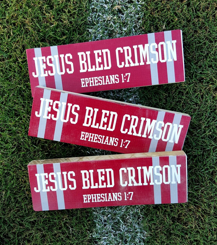 Spirit Block / JESUS bled CRIMSON Ephesians 1:7 A must have   Etsy