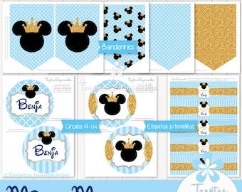 Mickey Mouse Rey Invitaciones Para Imprimir Texto Editable