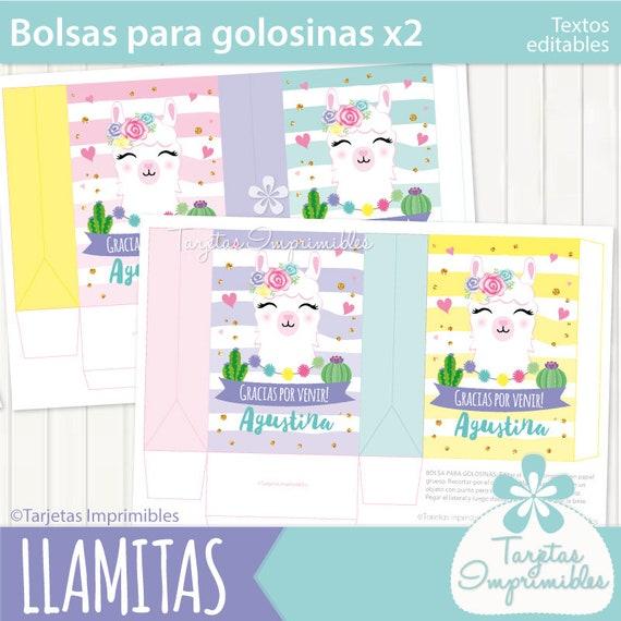 Llamas Bolsitas De Golosinas Para Imprimir 3 Modelos Entrega Etsy