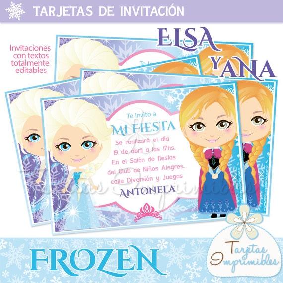 Invitaciones Para Imprimir Elsa Y Anna Frozen
