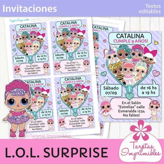 Invitaciones Para Imprimir Con Muñecas De Moda Entrega