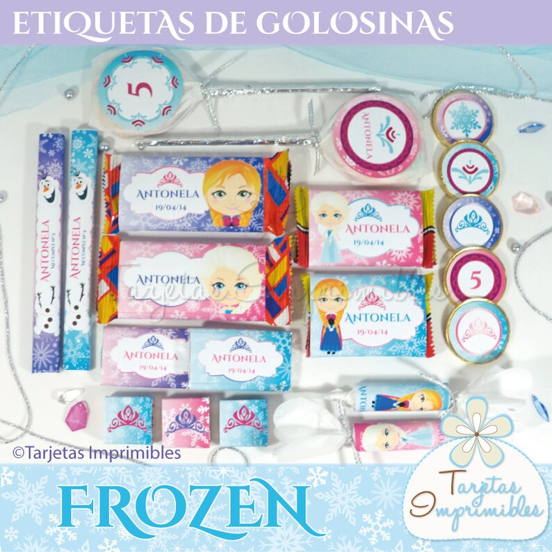 photograph relating to Frozen Printable Labels named Frozen printable labels for sweet bar Package