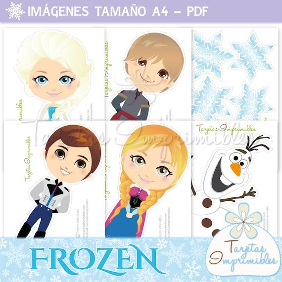 Personajes Frozen para imprimir Anna Elsa Kristoff Hans y | Etsy