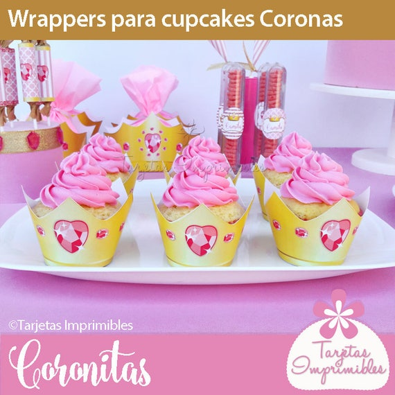 coronitas wrappers and toppers for cupcakes to print etsy