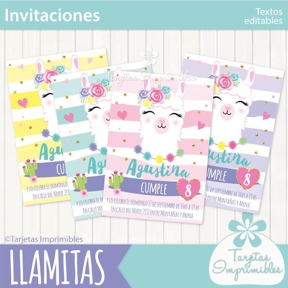 Llamas Alpaca Vicuña Invitaciones Para Imprimir Texto