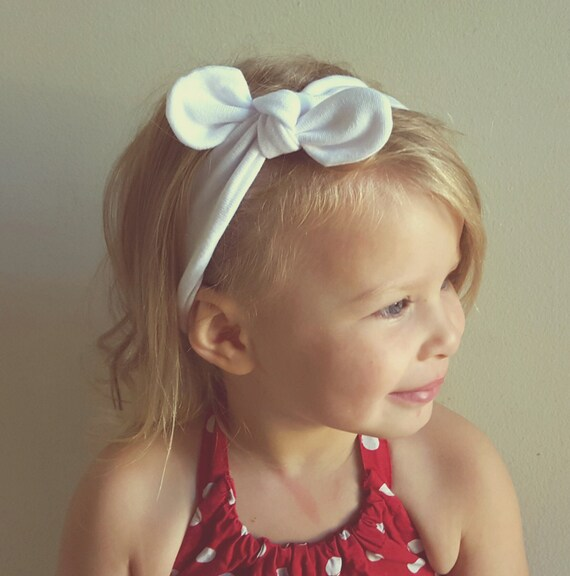 Tie Knot Headband  White Headband  Jersey Headband  Baby  871a9e6e082