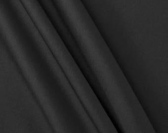 Black Stretch Taffetta Fabric by the Yard