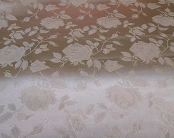 Floral Jacquard Satin Gold by the Yard