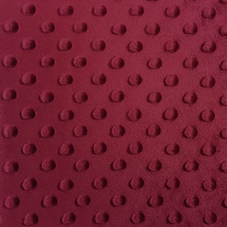 BURGUNDY Minky Dimple Dot Blanket Fabric 60 Wide Sold By The Yard