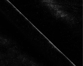Stretch Velvet Fabric By the Yard - Black
