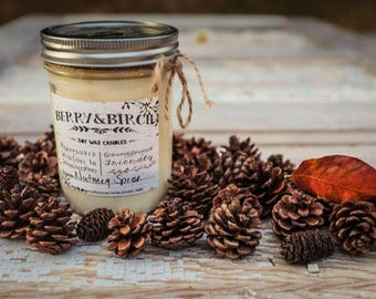 NAPA VALLEY--Soy Candle-Non-Toxic-Eco-Friendly-Renewable