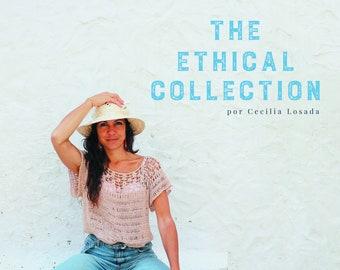 The Ethical Collection Crochet Ebook by Cecilia Losada, boho style, summer tee, boho chic, bohochic, crochet boho, 4 desings, crochet shawl