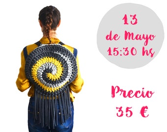 Workshop Spiral Backpack Crochet in Handmade Festival by Mamma DO IT YOURSELF, Mammadiypatterns, Sasol, dospunts, HMFBCN, Cotton air